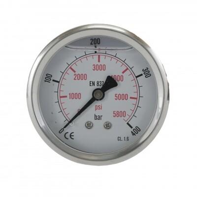 """Manometr glycerinový 400 bar G1/4"""" zadní"""