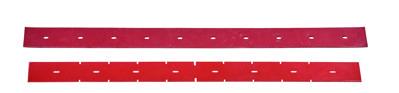 Stírací gumy do sací lišty pro Nilfisk SCRUBTEC 344 a SC401 - červené