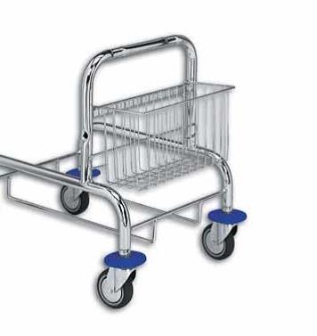 Košík se zadním úchytem pro úklidový vozík