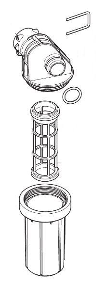 Filtr vstupní vody pro vysokotlaké čističe Nilfisk MH 3C, MH 4M, MH 5M MH 6P, MH 7P, MH 8P