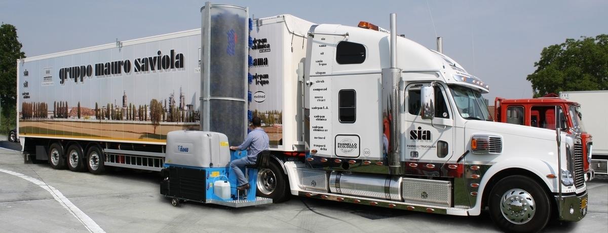 Mycí stroj nákladních vozidel ITECO